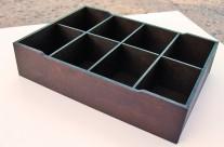 Чайная коробка, 8 ячеек, дерево
