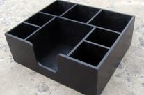 Барный органайзер 8 отделений, черный, дерево