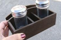 Подставка №1, для салфеток и специй, коричневая