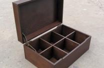 Чайная коробка, 6 ячеек, дерево