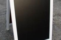 Штендер меловой двухсторонний, 75 х 50 см, белый